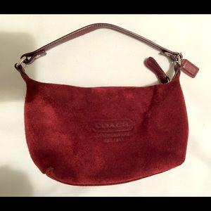 Coach Soho Burgundy Leather/Suede Hobo Bag